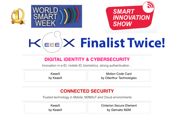 KeeeX Double Finaliste des World Smart Week Awards