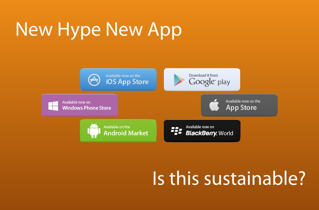 New Hype, new App. Is this sustainable?