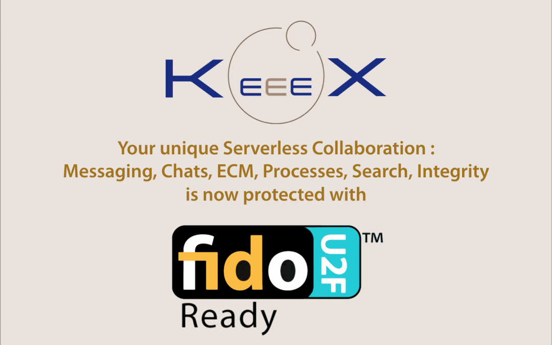 KeeeX Now Supports FIDO U2F authentication