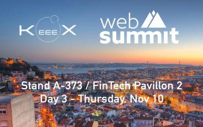 Meet us at Web Summit Lisbon on Day 3 – Nov 10 / #FinTech Pavillon 2 / stand A-373