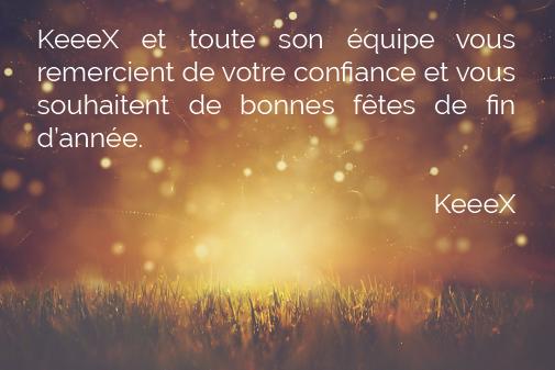 KeeeX vous souhaite d'excellentes fêtes !