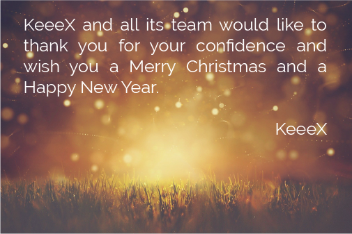 KeeeX wishes you a Merry Christmas and a Happy New Year!
